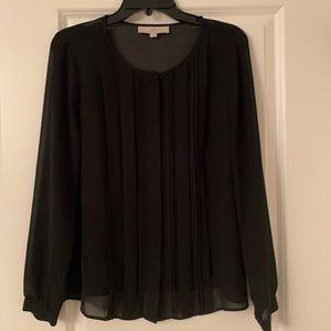 Loft Black Blouse | S